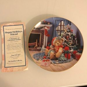 Cherished Teddies Christmas Plate